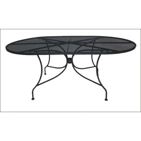 Charleston Oval Wrought Iron Dining Table by DC America