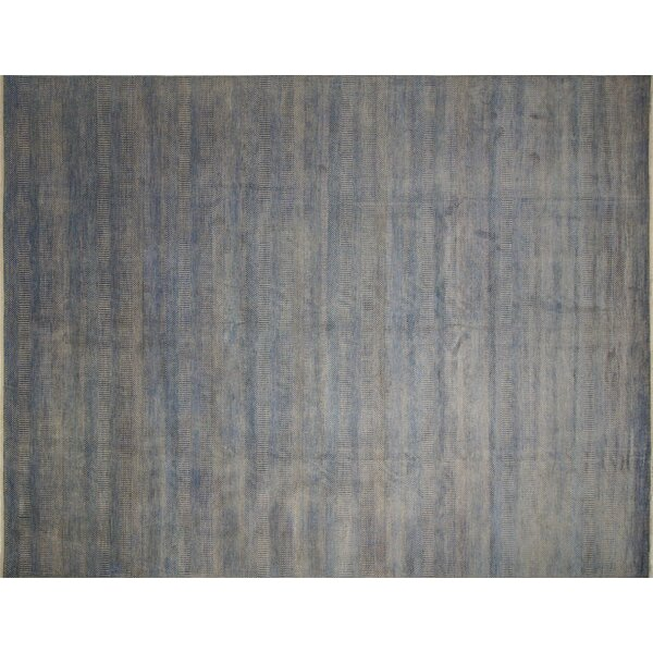 One-of-a-Kind Abrahams Fine Hand-Knotted Gray Area Rug by Isabelline