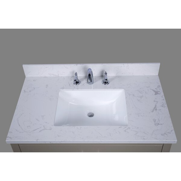 Bari 37 Single Bathroom Vanity Top by Renaissance Vanity