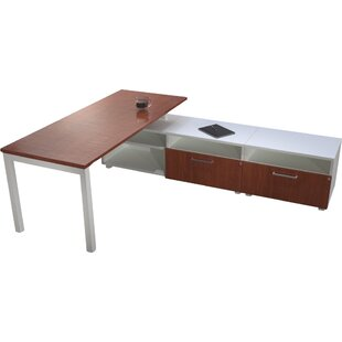 Trig L-Shape Writing Desk with Low Storage