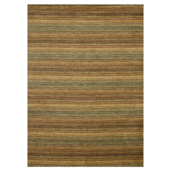 Turnage Hand-Woven Brown/Gold Area Rug by Millwood Pines
