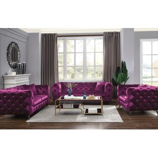 Hyland 3 Piece Living Room Set by Everly Quinn