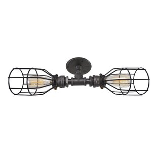 Affordable Price Caton 2-Light Armed Sconce By West Ninth Vintage