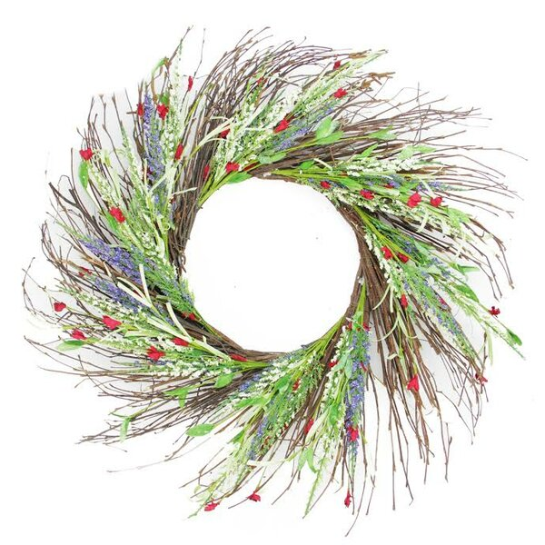 22 Decorative Mini Wild Flower Artificial Spring Floral Wreath by Darice