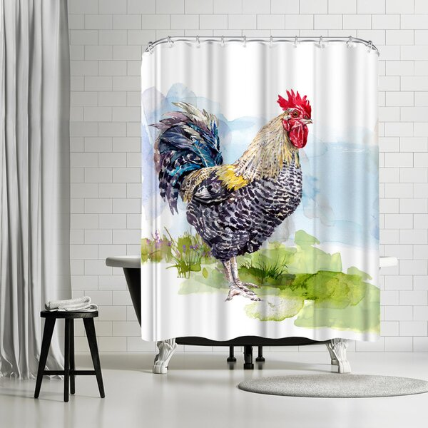 Harrison Ripley Cockerel Shower Curtain by East Urban Home