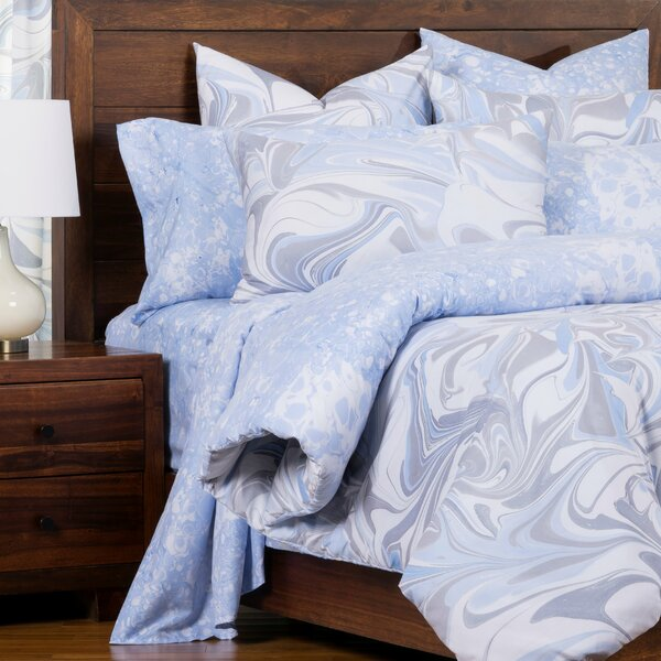 Quicksilver Marbled Reversible Cal King Size Duvet Cover