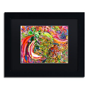 'Man as a Flower' Framed Painting Print by Trademark Fine Art