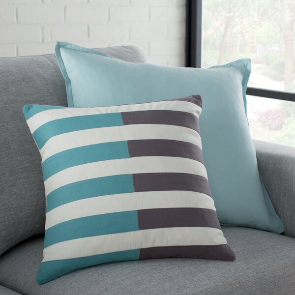 Kinslee Cotton Pillow Cover by Breakwater Bay