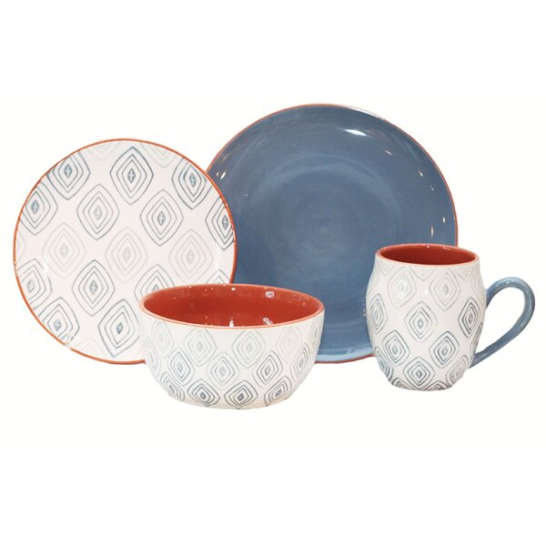 Echo 16 Piece Dinnerware Set, Service for 4 by Baum