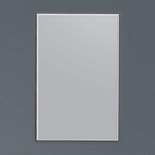 Reviews Spitler Matte Aluminum Framed Bathroom/Vanity Mirror ByOrren Ellis