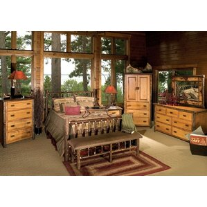 Hickory Panel Customizable Bedroom Set