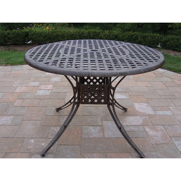Kingsmill Metal Dining Table by Rosecliff Heights