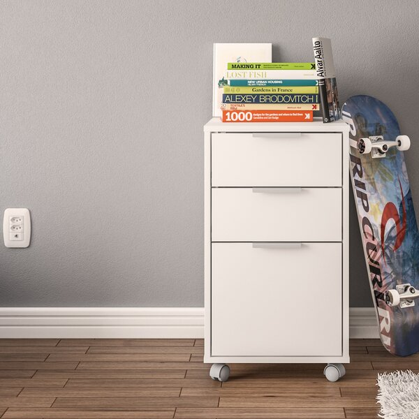 Castelli 3 Drawer Vertical Filing Cabinet by Ebern Designs