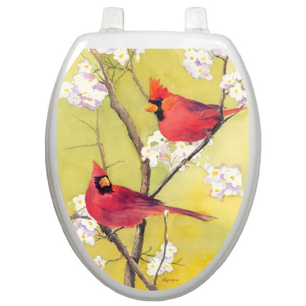 Themes Cardinal Toilet Seat Decal by Toilet Tattoos