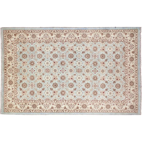 One-of-a-Kind Romona Hand-Knotted Rectangle Blue Indoor Area Rug by Isabelline