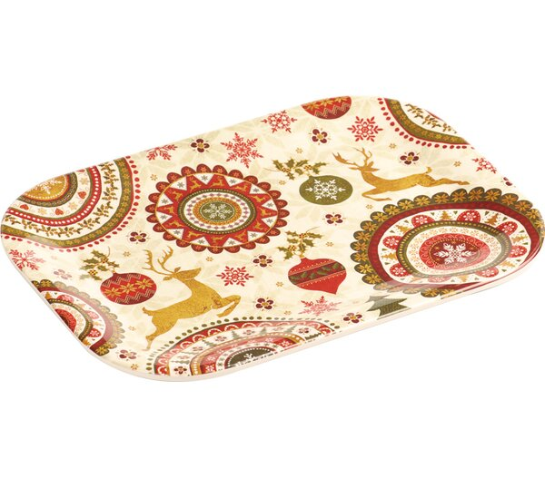 Melamine Snack Christmas Platter (Set of 2) by The Holiday Aisle