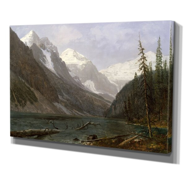 Canadian Rockies by Albert Bierstadt Print of Painting on Wrapped Canvas by Wexford Home