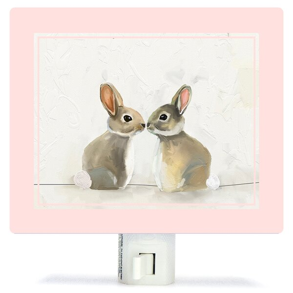 Baby Bunnies by Cathy Walters Canvas Night Light by Oopsy Daisy