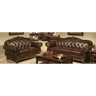 Stackhouse Leather Configurable Living Room Set by Astoria Grand