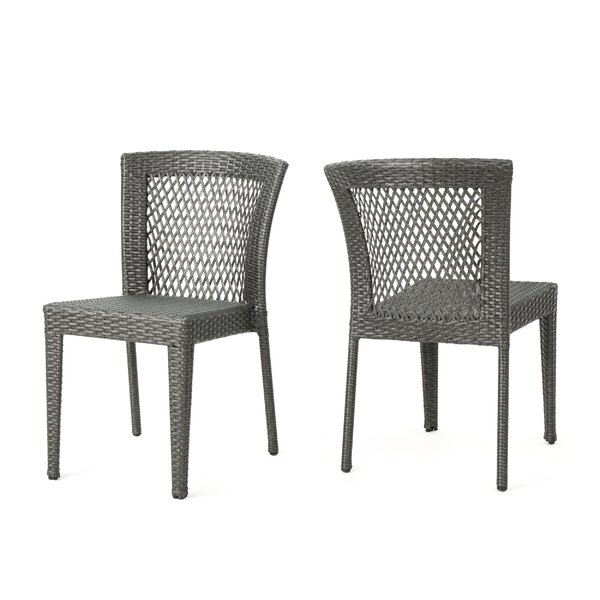 Emrich Outdoor Wicker Patio Dining Chair (Set of 2) by Orren Ellis Orren Ellis