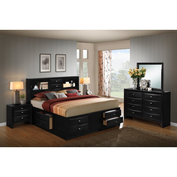 Blemerey Platform 5 Piece Bedroom Set by Roundhill Furniture