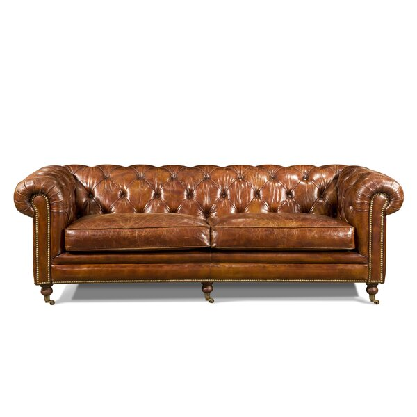 Darby Home Co Edgell Genuine Leather Chesterfield Sofa & Reviews by Darby Home Co