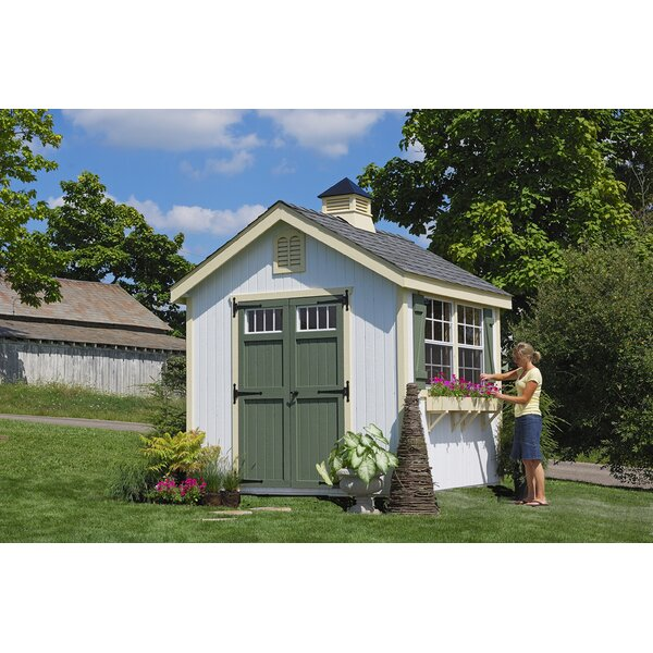 Colonial Williamsburg Precut Wooden Storage Shed by Little Cottage Company