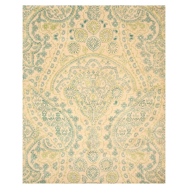 Hand-Tufted Ivory Area Rug1 by The Conestoga Trading Co.