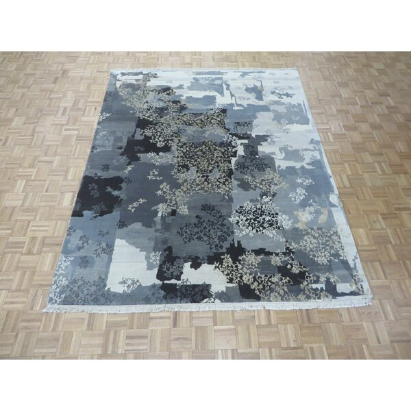 One-of-a-Kind Elbridge Modern Hand-Knotted Wool Gray/Brown Area Rug by Red Barrel Studio