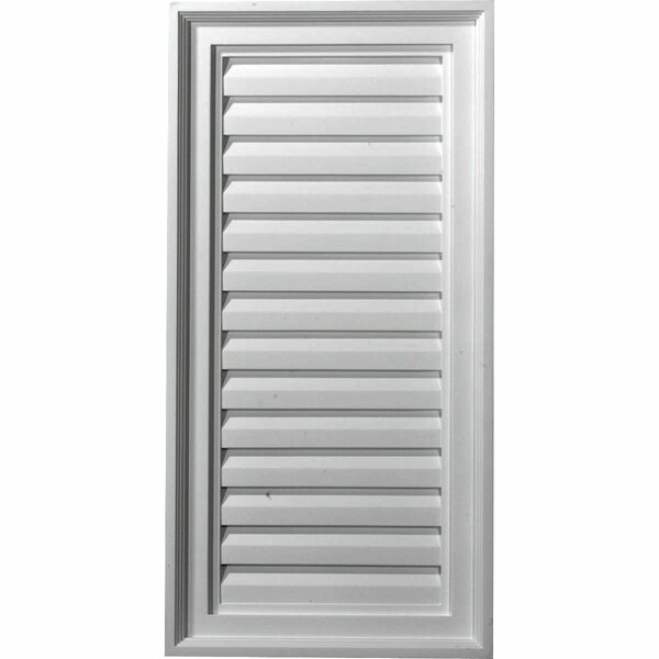 24H x 15W Vertical Gable Vent Louver by Ekena Millwork