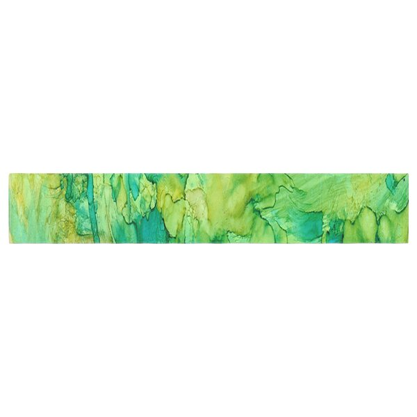 Rosie Brown Going Emerald Table Runner by East Urban Home