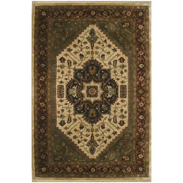 Serapi Hand-Tufted Ivory/Beige Area Rug by American Home Rug Co.