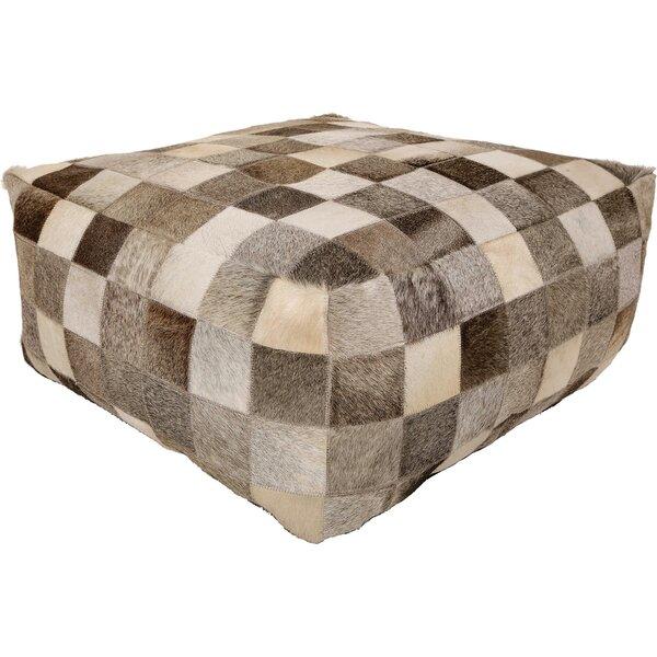 Aranda Leather Pouf by Foundry Select