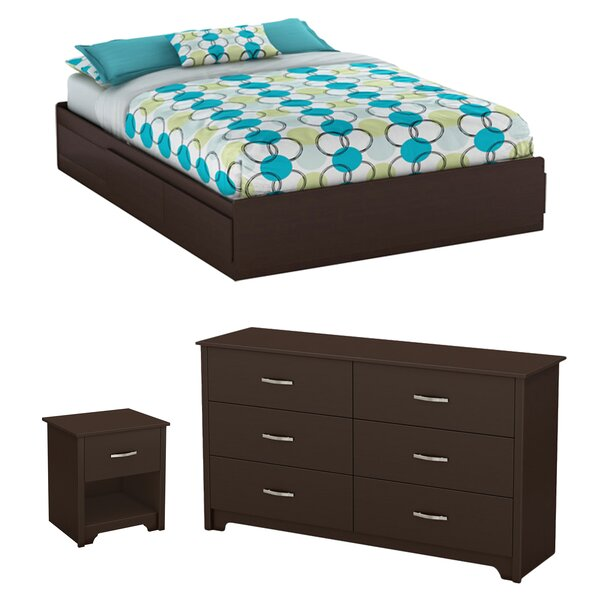 Fusion Queen Platform Configurable Bedroom Set by South Shore