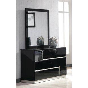Lowrey 3 Drawer Dresser with Mirror By Wade Logan