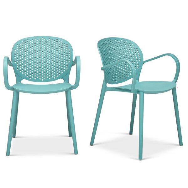 Azha Stacking Patio Dining Chair (Set of 4) by Brayden Studio