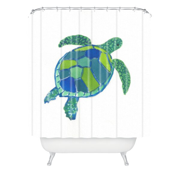 Sea Turtle by Laura Trevey Shower Curtain by East Urban Home
