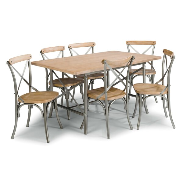 Hamann 7 Piece Dining Set by Williston Forge