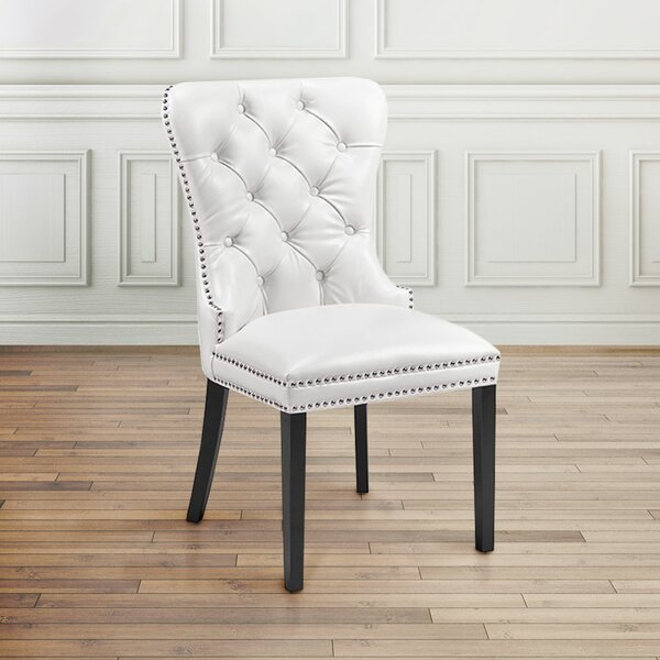 Amazing Aston Diamond Tufted Head Trim Dining Chair By Uptown Club Comparison
