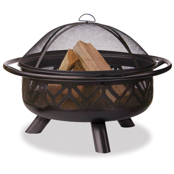 Uniflame Steel Wood Burning Fire Pit by Blue Rhino