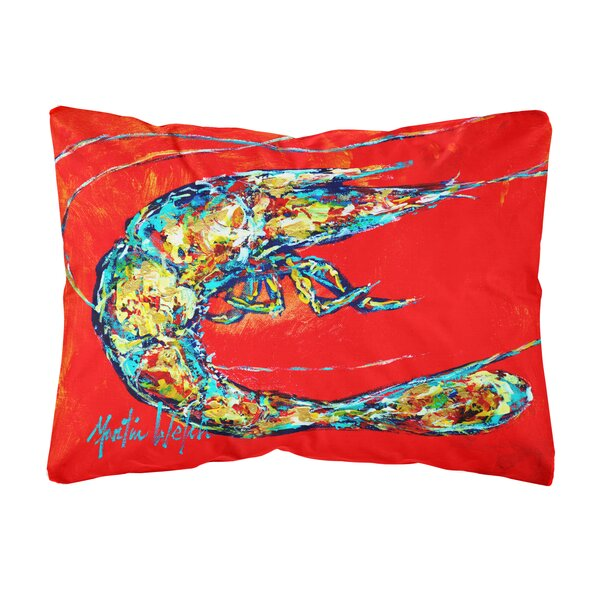 Smart Shrimp Boil Fabric Indoor/Outdoor Throw Pillow by World Menagerie