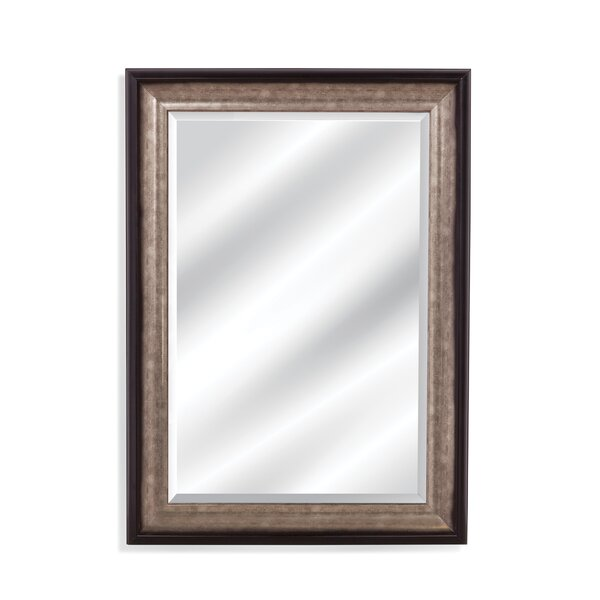 Rectangle Black And Silver Wood Wall Mirror by Darby Home Co