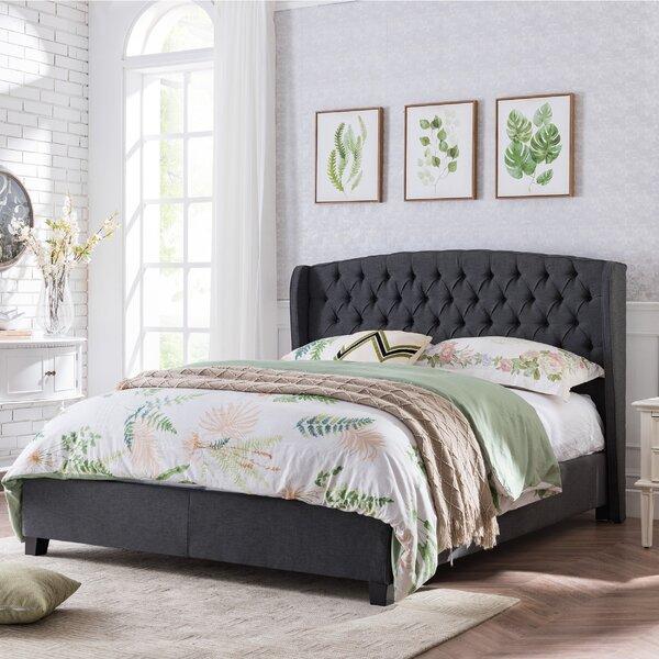 Atkin King Upholstered Platform Bed by Charlton Home
