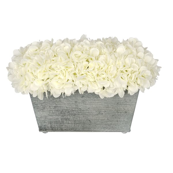 Artificial Rectangle Hydrangea in Planter by Highl