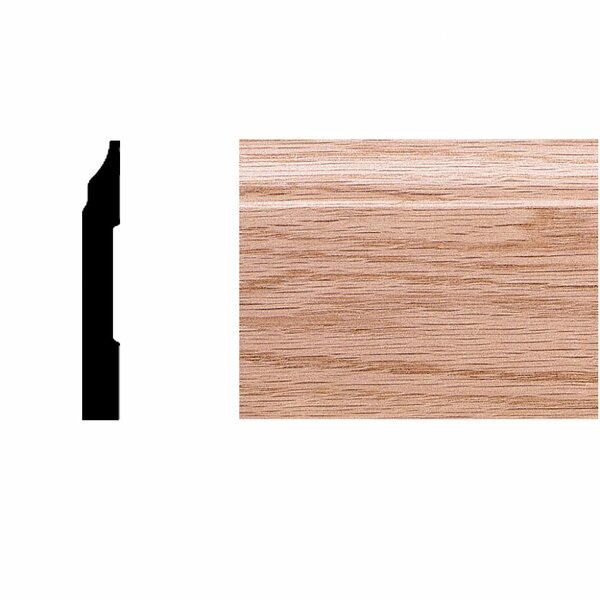 3/8 in. x 2-3/4 in. x 8 ft. Oak Colonial Base Moulding by Manor House