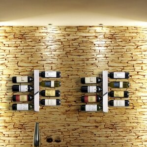Blast 8 Bottle Wall Mounted Wine Rack by Vynebar