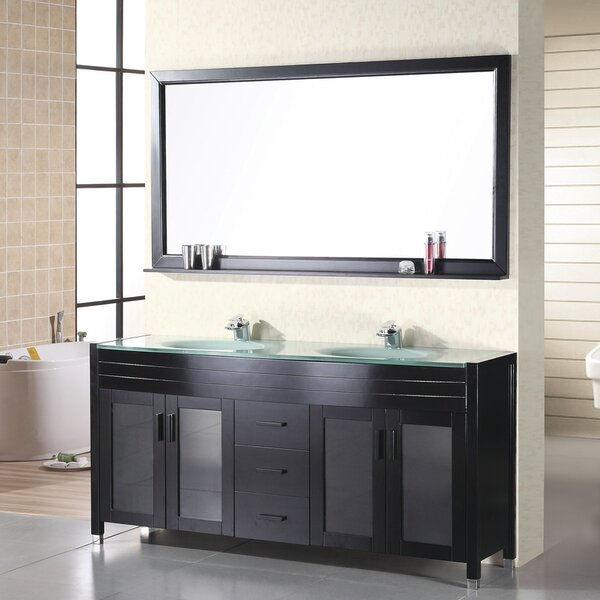 Remi 61 Double Bathroom Vanity Set with Mirror by Home Loft Concepts