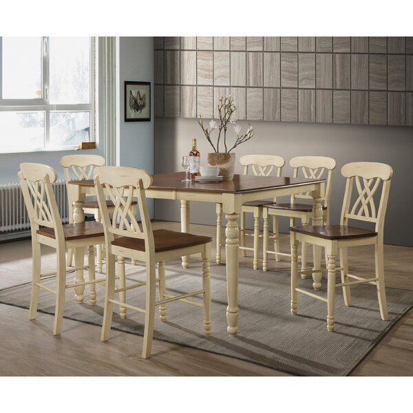 Leedom 7 Piece Counter Height Extendable Dining Set by August Grove August Grove