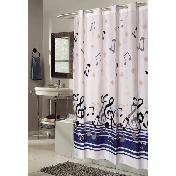 EZ-ON® Blue Note Shower Curtain by Ben and Jonah