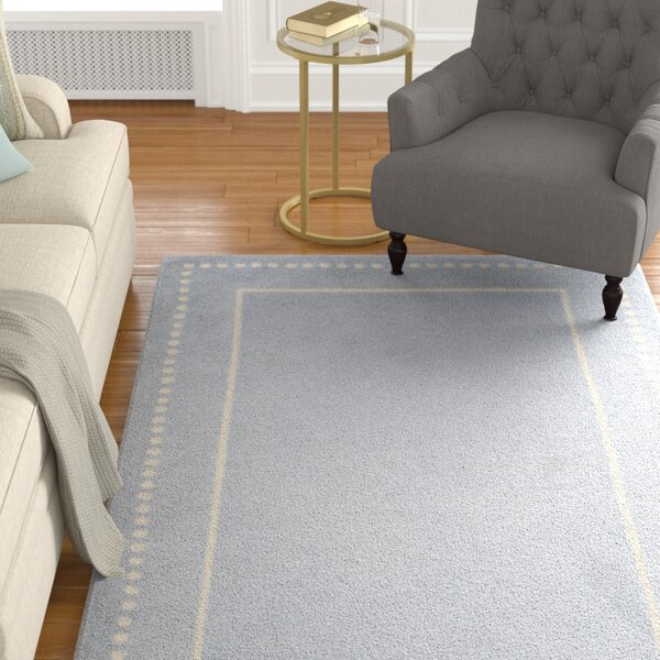 Amundson Hand-Tufted Light Blue/Ivory Area Rug by Charlton Home